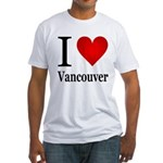 I Love Vancouver Fitted T-Shirt