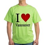 I Love Vancouver Green T-Shirt