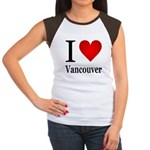 I Love Vancouver Women's Cap Sleeve T-Shirt