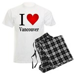 I Love Vancouver Men's Light Pajamas