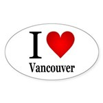 I Love Vancouver Sticker (Oval 50 pk)