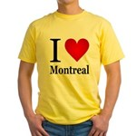 I Love Montreal Yellow T-Shirt