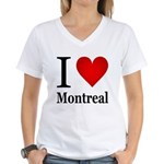 I Love Montreal Women's V-Neck T-Shirt