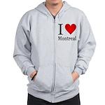 I Love Montreal Zip Hoodie