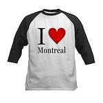 I Love Montreal Kids Baseball Jersey