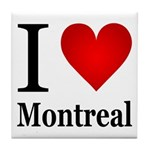 I Love Montreal Tile Coaster