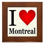 I Love Montreal Framed Tile