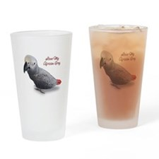 African Grey Parrot Gifts Drinking Glass