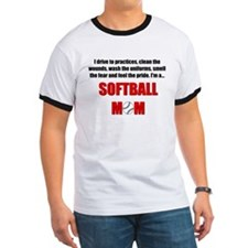 Cute Softball mom T