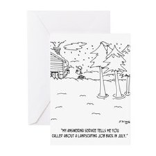 Landscaping in the Snow Greeting Cards (Pk of 20)