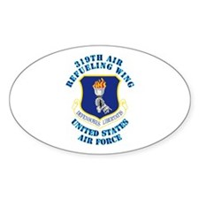 319th Air Refueling Wing with Text Decal