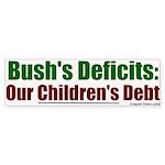 Bush's Deficits = Debt Bumper Sticker