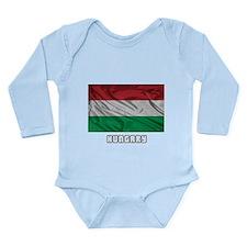 Flag of Hungary Long Sleeve Infant Bodysuit