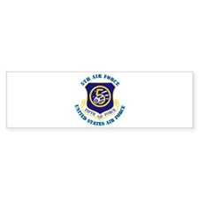 5th Air Force with Text Bumper Sticker