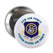 """5th Air Force with Text 2.25"""" Button"""