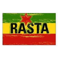 Rasta Gear Rasta Flag Rectangle Decal
