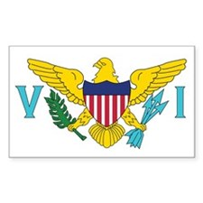 USVI Flag Decal