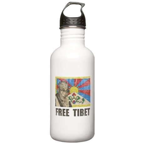 Dalai Lama Free Tibet Stainless Water Bottle 1.0L