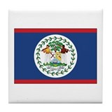 Belize Flag Tile Coaster