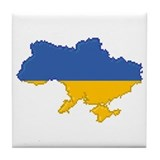 """Pixel Ukraine"" Tile Coaster"