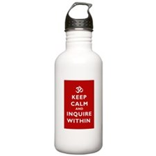 Keep Calm And Inquire Within Sports Water Bottle