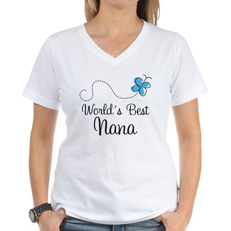 Nana (World's Best) Women's V-Neck T-Shirt