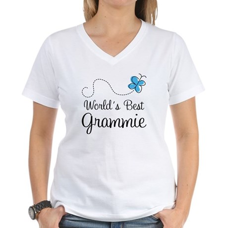 Grammie (World's Best) Women's V-Neck T-Shirt