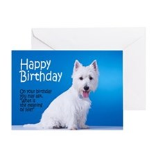 Westie Birthday Card