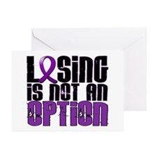 Losing Is Not An Option Anorexia Greeting Cards (P