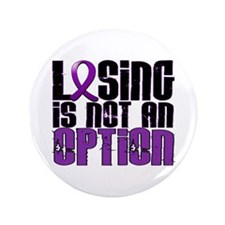 "Losing Is Not An Option Anorexia 3.5"" Button (100"