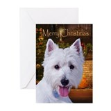 West highland white terrier christmas Greeting Cards (20 Pack)