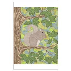 Grey Squirrel Posters