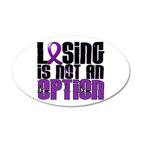 Losing Is Not An Option Lupus 22x14 Oval Wall Peel