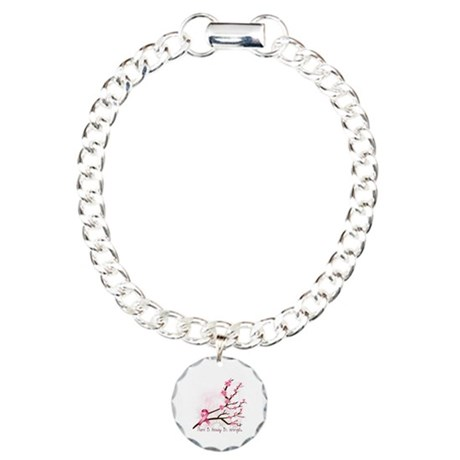 Breast Cancer Awareness Charm Bracelet, One Charm