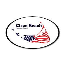 Cisco Beach - Map Design. 38.5 x 24.5 Oval Wall Pe