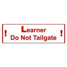 Learner Bumper Car Sticker