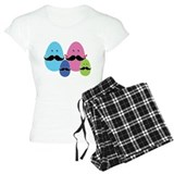 Moustache eggs family Pajamas