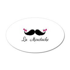 La moustache 38.5 x 24.5 Oval Wall Peel