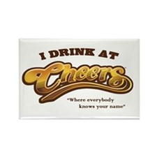 'I Drink At Cheers' Rectangle Magnet (10 pack)