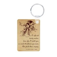 Girl in a Garden Keychains