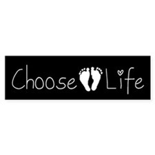 """Choose Life"" Bumper Bumper Sticker"