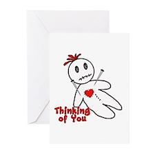 Anti Valentine Voodoo Doll Cards (Pk of 10)
