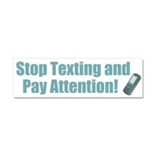Stop Texting Car Magnet 10 x 3