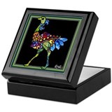 Circus March Ostrich Keepsake Box