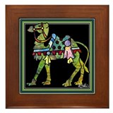 Circus March Camel Framed Tile
