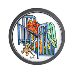 Dragon Babies Wall Clock