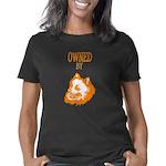 Organic Women's Fitted T-Shirt (dark)