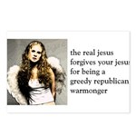 The Real Jesus Forgives Your Postcards (Package o