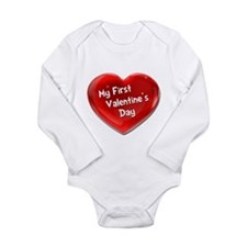 My First Valentine's Day 4 Long Sleeve Infant Body