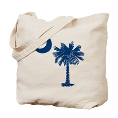 Blue Palmetto Tote Bag
